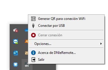 conectar vía wifi QR o cable usb